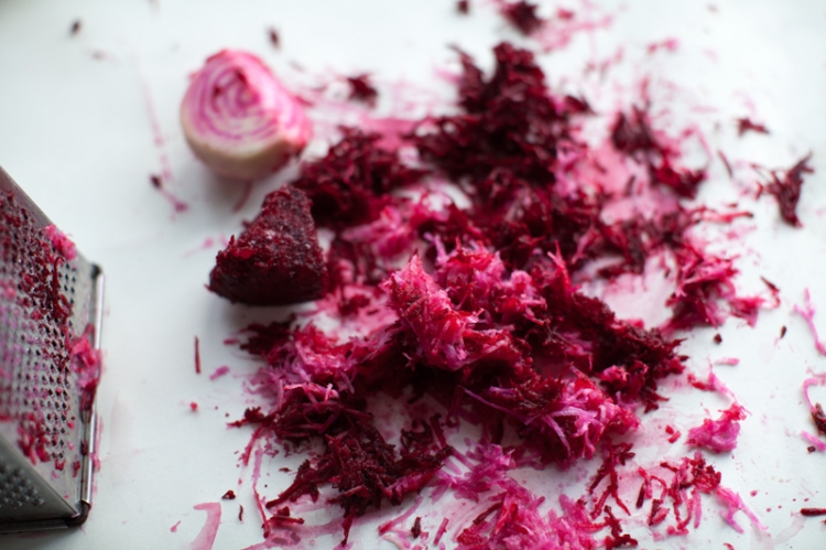 grated-beets-for-beet-and-peppercorn-spiced-cured-salmon