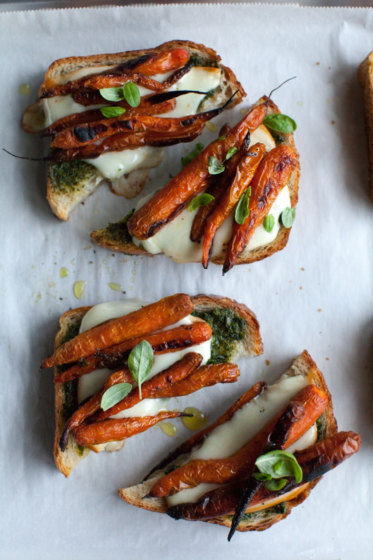Smokey Carrot Bruschetta  - Lemon Fire Brigade