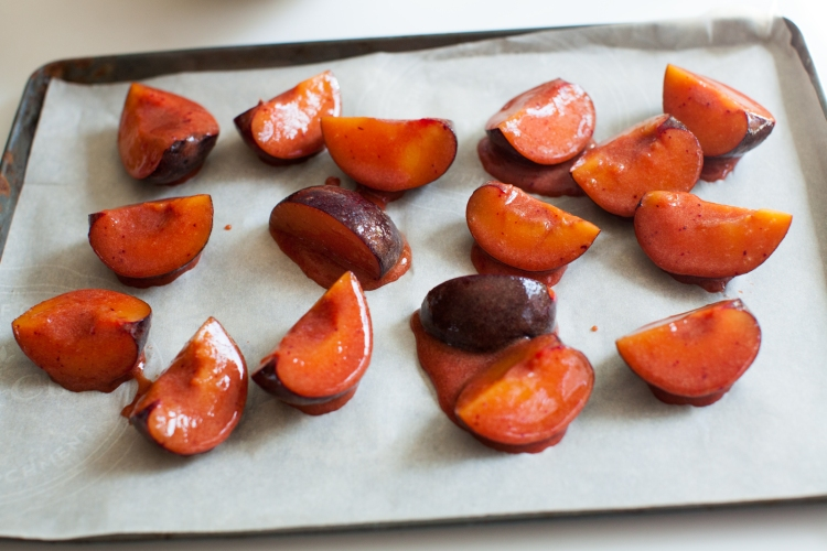 Plum Caramel Roasted Plums with Brûléed Stracciatella | Lemon Fire Brigade