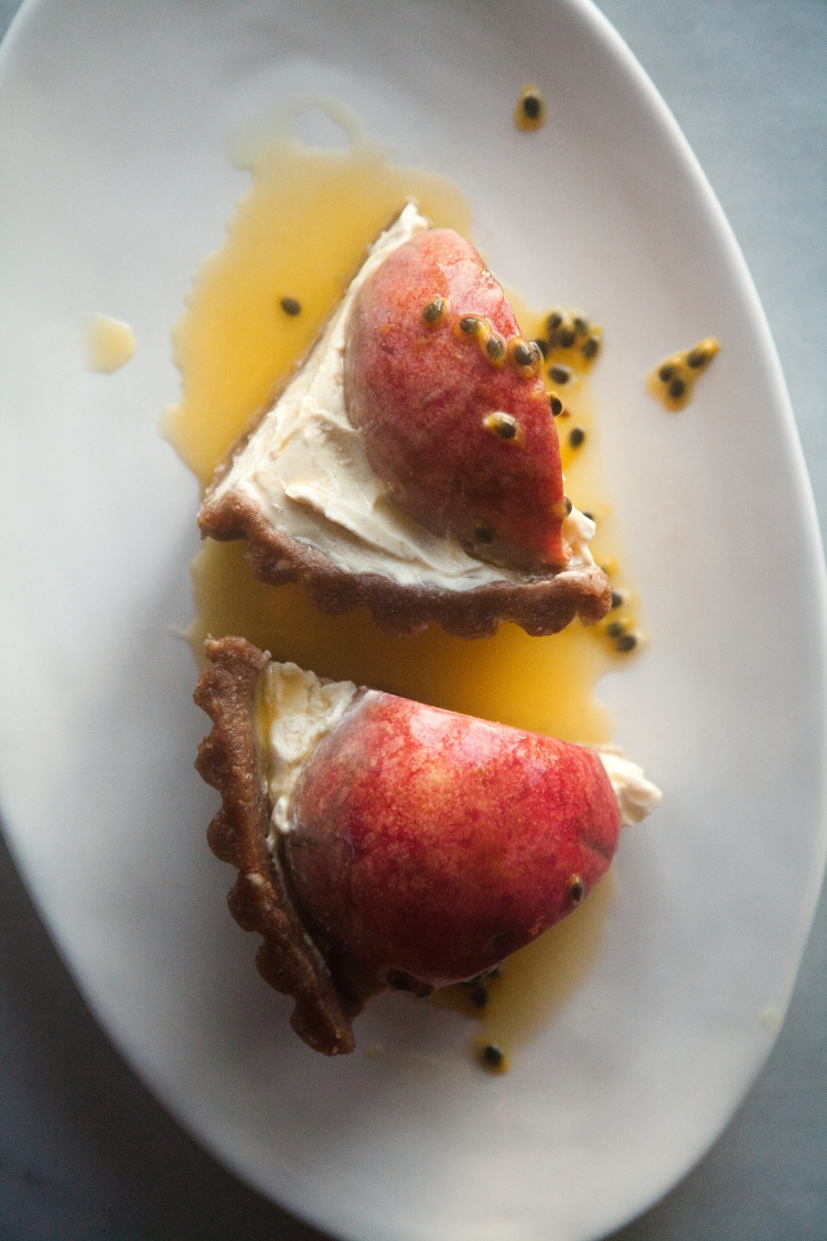 Raw Peach and Passionfruit Torte with Indian Blood Peaches | Lemon Fire Brigade