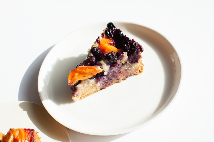 Salted Butter Blueberry Apricot Cornmeal Cake | Lemon Fire Brigade